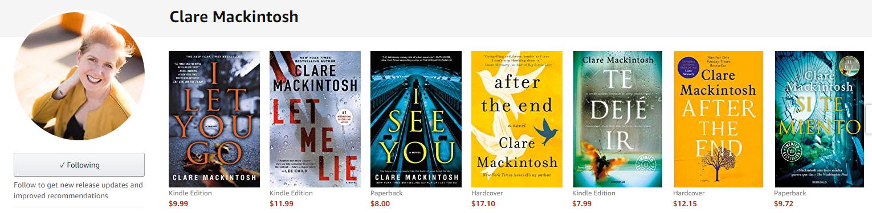 Clare Mackintosh books