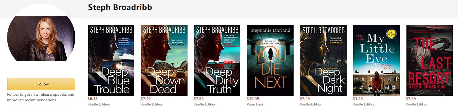 Steph Broadribb all books