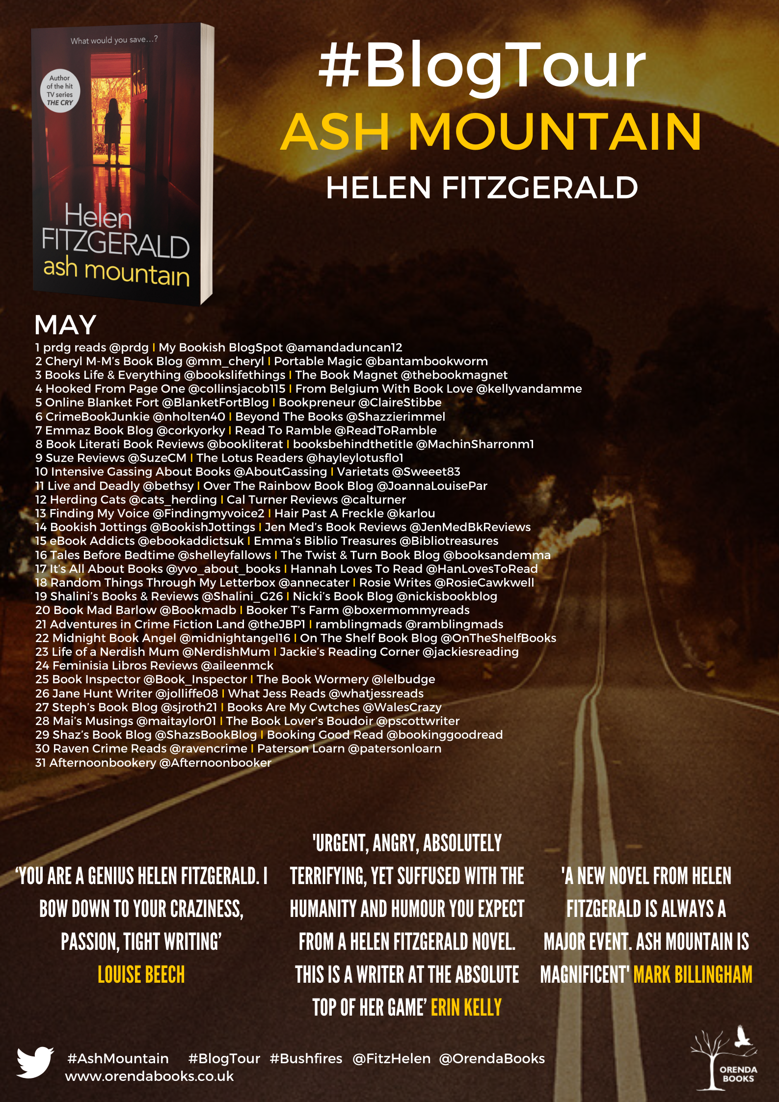 Helen Fitzgerald FINAL Ash Mountain BT Poster (2)
