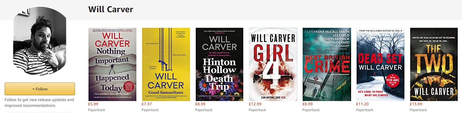 Will Carver other books